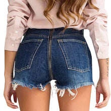 Back Zipper Denim Shorts