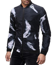 Feather Painting Windbreaker Jacket