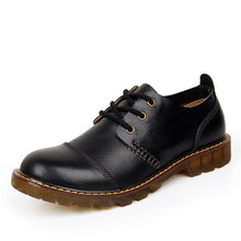 Casual Lace Up Leather Shoes