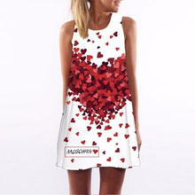 Casual Hearts Print Dress