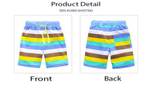 Colorful Striped Knitted Shorts