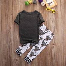 Cute Deer Print Outfit Set
