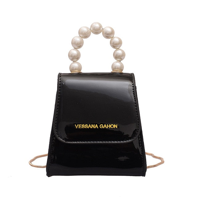 Pearl Handle Shoulder Bag