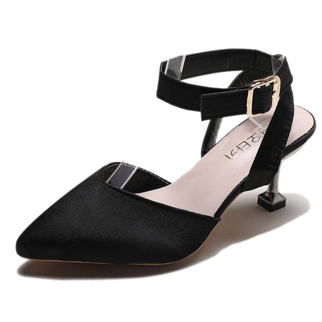 Hollow Out Buckle Sandals