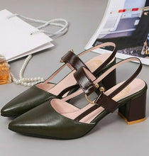 Hollow Coarse Pointed Sandals