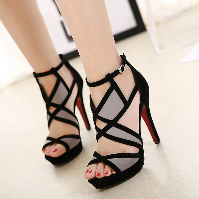 Cross strap Open Toe Sandals