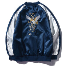 Embroidery Baseball Colorblock Jacket