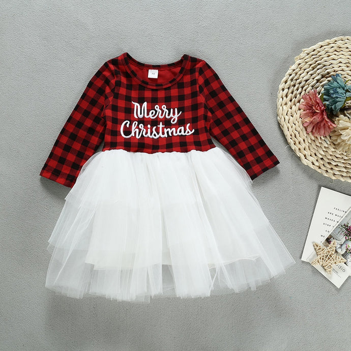 Casual Patchwork Tutu Dress