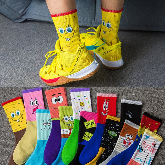 Cartoon Combed Cotton Socks EU 35-45