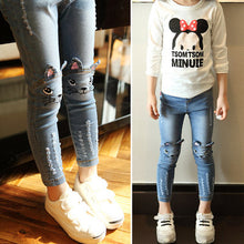 Cartoon Image Jeans Pants