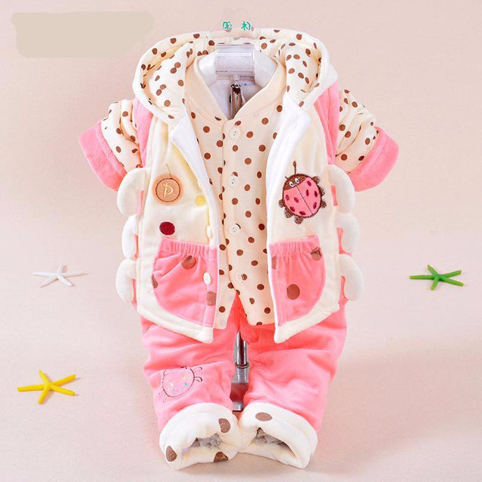 Cartoon Hooded Coat Set