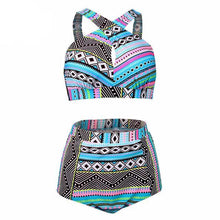 Cross High Waist Swimsuit Set