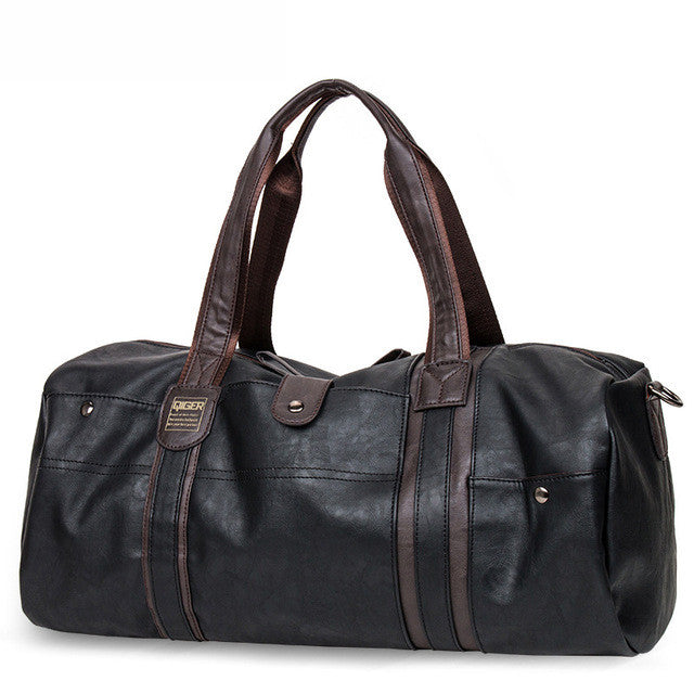Barrel Shaped Leather Bag