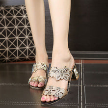 Crystal Peep Toe Sandals