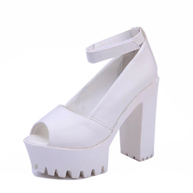 Thick Heel Platform Sandals Shoes