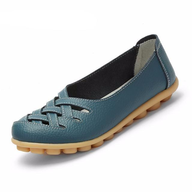 Casual Pig Leather Oxford Flat Shoes
