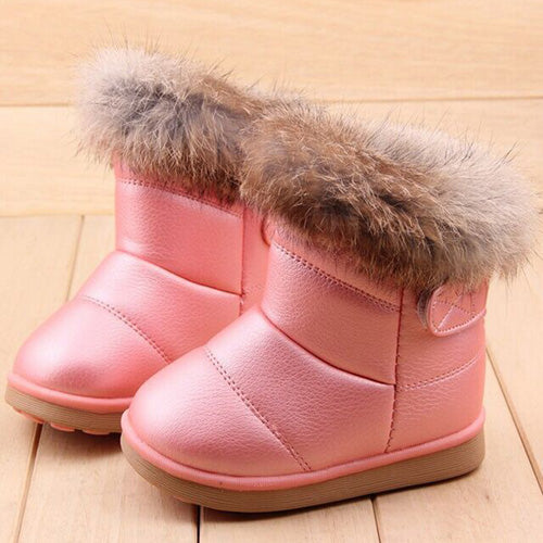 Fur Ankle Round Toe Snow Boots