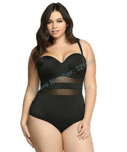 Mesh Plus Size One Piece Swimsuits