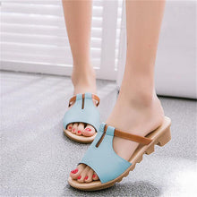 Casual Cut Out PU Leather Sandals