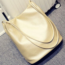 Bucket Leather Shoulder Bags