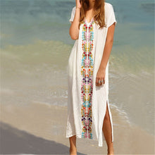 Vintage Rayon Embroidery Beach Cover up