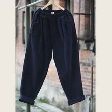Corduroy Pleated Loose Pants