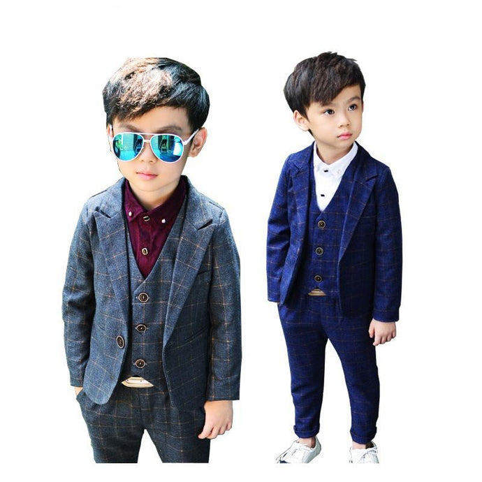 Elegant Style Plaid Tuxedos Suits
