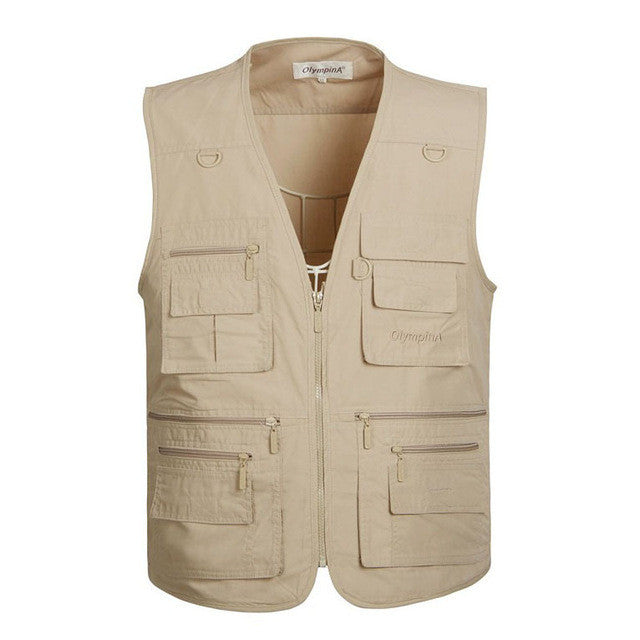 Casual Multi Pockets Vest
