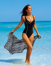 Deep-V Plus Size One Piece Swimsuit