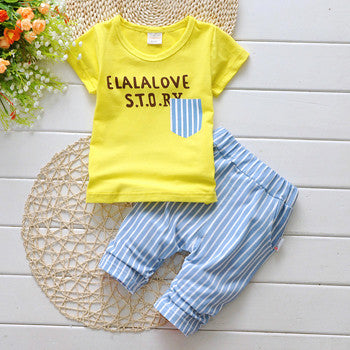 Casual Letter Print Clothing Set
