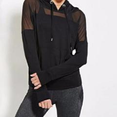 Sexy Mesh See Through  Hooded Sweatshirts