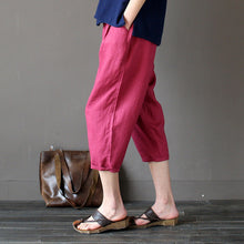 Calf-Length Loose Pants