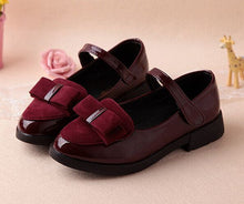 Bowknot Leather Sneakers Shoes