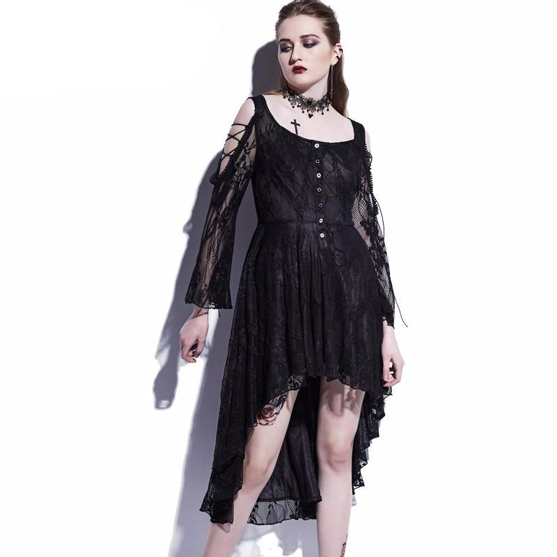 Casual Gothic Asymmetrical Dress