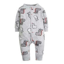 Cartoon Long Sleeve Sleepwear Rompers