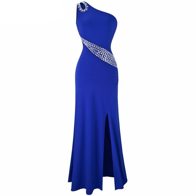 Beading Split Long Evening Dress