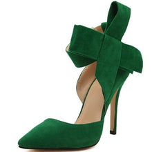 Bow Tie Pumps Butterfly Stiletto Shoes