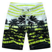 Coconut Tree Printed Beach Shorts