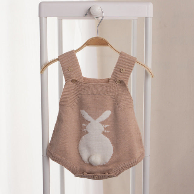 Sweet Knitted Bunny Jumpsuits