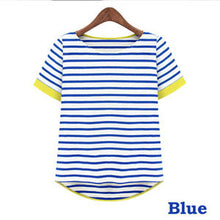 Casual Short Sleeve Striped T-shirts