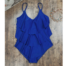 Vintage Ruffle One Piece Swimsuit