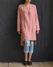 Casual Cotton Linen Knitted Dress