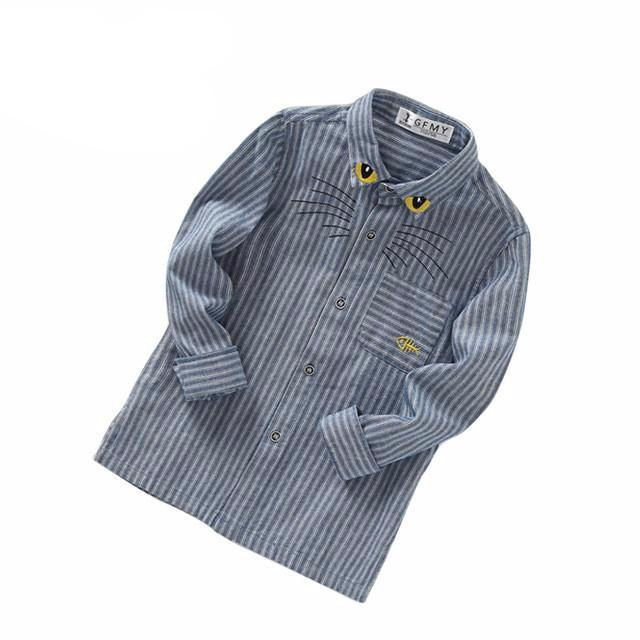 Folding Collar Long Sleeve Shirt