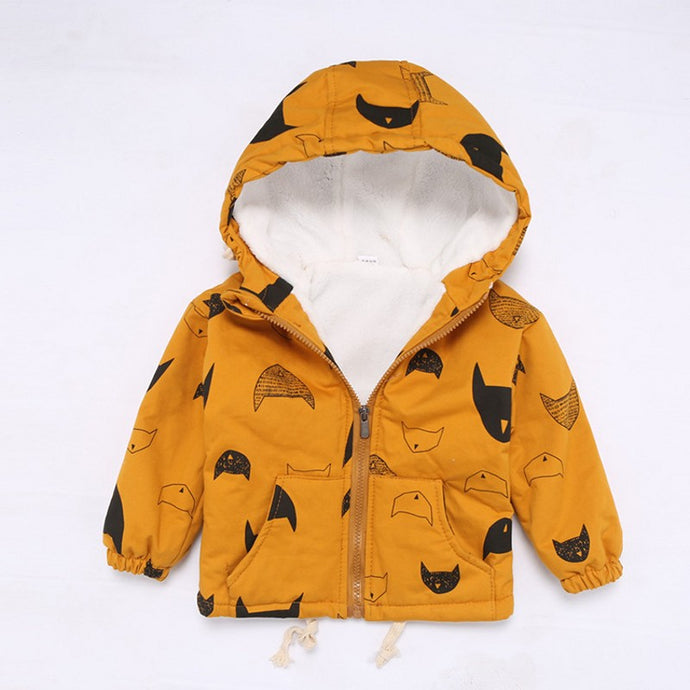 Hooded Printed Cat Jacket