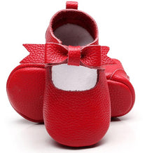 Cute Bow Leather Moccasins Shoes