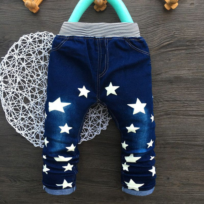 Straight Star Print Pants