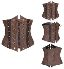 Sexy Faux Leather Corset Bustier