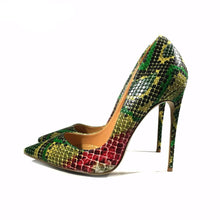 Snake Printing Pumps Shoes