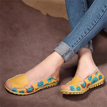 Casual Floral PU Leather Shoes