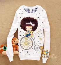 Cartoon Print Sweater Shirts